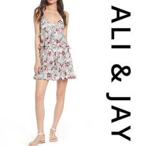 Ali & Jay Samo Floral Ruffle Pleated Minidress